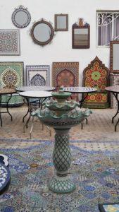 【モロッコ】フェズ ツアー推薦の土産物屋 陶器&モザイクタイル工房(HISツアー8日間)